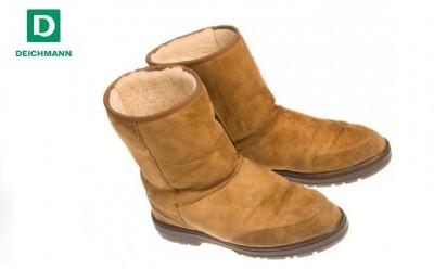 Kotníková obuv s kožešinou od obuvi Deichmann
